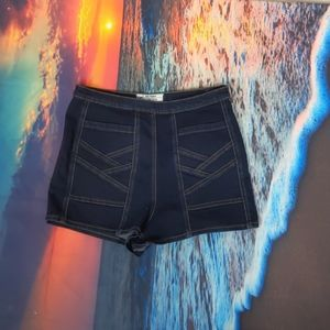 Free people high waisted side zipper shorts 25